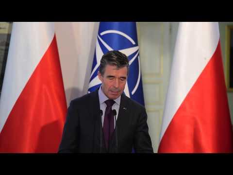 NATO Secretary General - Press Point - Poland, 08 May 2014