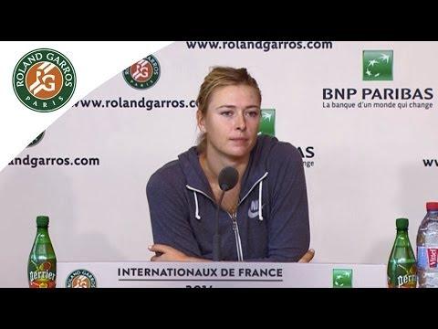 Press conference Maria Sharapova 2014 French Open R3