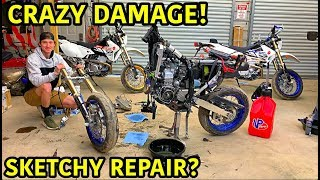 Rebuilding A Wrecked 2019 DRZ 400 Supermoto Part 3
