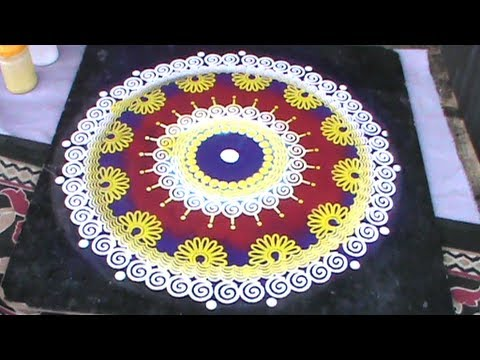 Rangoli Designs Using Stencil Youtube
