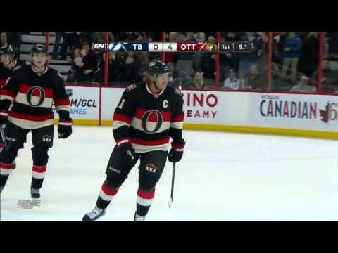 Daniel Alfredsson PP Goal (Tampa Bay Lightning vs Ottawa Senators Mars 23, 2013) NHL HD