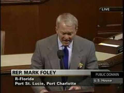 Mark Foley rants on Internet Predators