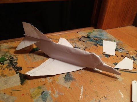 How to make the F-4 Phantom Paper Airplane