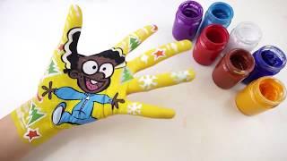 Bé Học Làm Họa Sĩ l Dạy Vẽ Nhân Vật Hoạt Hình l Bé Học Tiếng Anh với Màu Sắc và Bài Hát