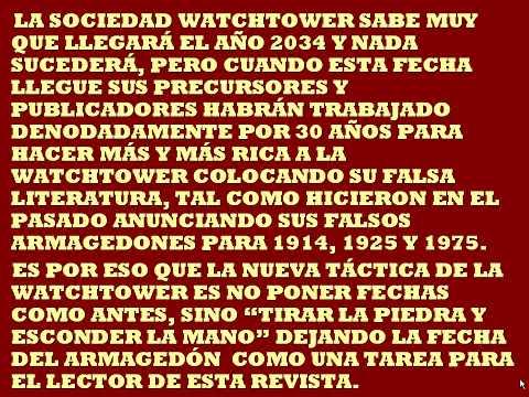 Testigos de Jehová(El 2034, nueva fecha del Armagedón)