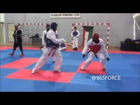 تمرين تايكوندو في نادي القرين الرياضي Taekwondo training with ALQurain Sporting club