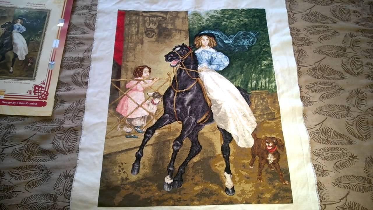 Всадница картина брюллова вышивка крестом 17