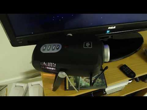 Sharper Image Entertainment Projector Video Quality Test/Review