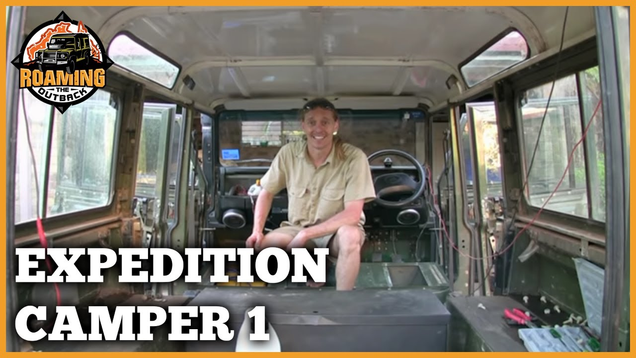 Land rover defender expedition camper upgrade part 1 youtube for Interieur defender 90