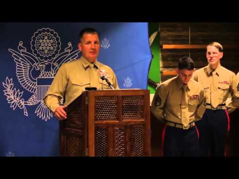 Full Ceremony Video | Fallen Marines in Nepal helicopter crash honored at U.S. Embassy in Ka...