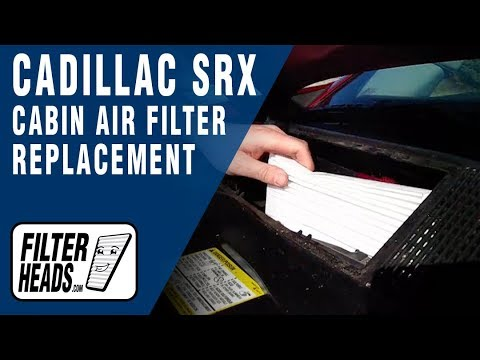Cabin air filter replacement- Cadillac SRX