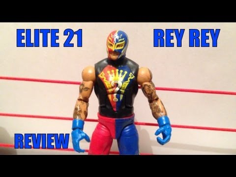WWE ACTION INSIDER: Rey Mysterio Elite series 21 Mattel wrestling figures review grims toy show