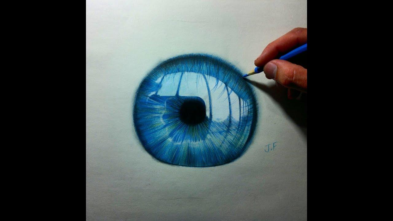 Blue Eye Pencil Drawing Speed Drawing Blue Eye