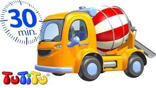 Игрушки на колесах | Бетоносмеситель | 30 минут ТуТиТу Игрушки