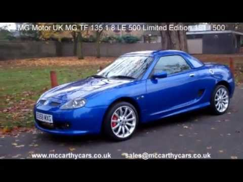 used mg motor uk mg tf 135 1 8 le 500 limited edition 151 convertible
