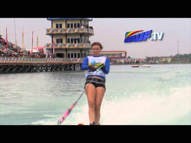 Palembang Womens slalom final - IWWF world cup 2012
