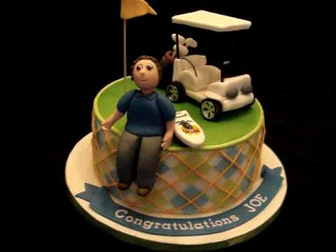 Golf Themed Fondant Cake Youtube