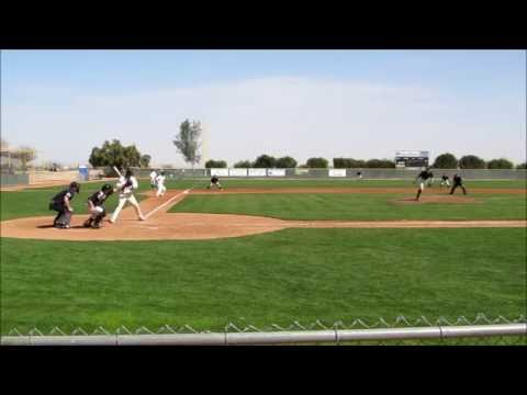 Isaac Greer (RHP, HS Jr) pitching against Central Arizona College March 13 2014