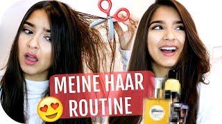 NEUER HAARSCHNITT 💇🏻♀️ Volumen erzeugen, Haarpflege - MEINE HAAR ROUTINE | Sanny Kaur