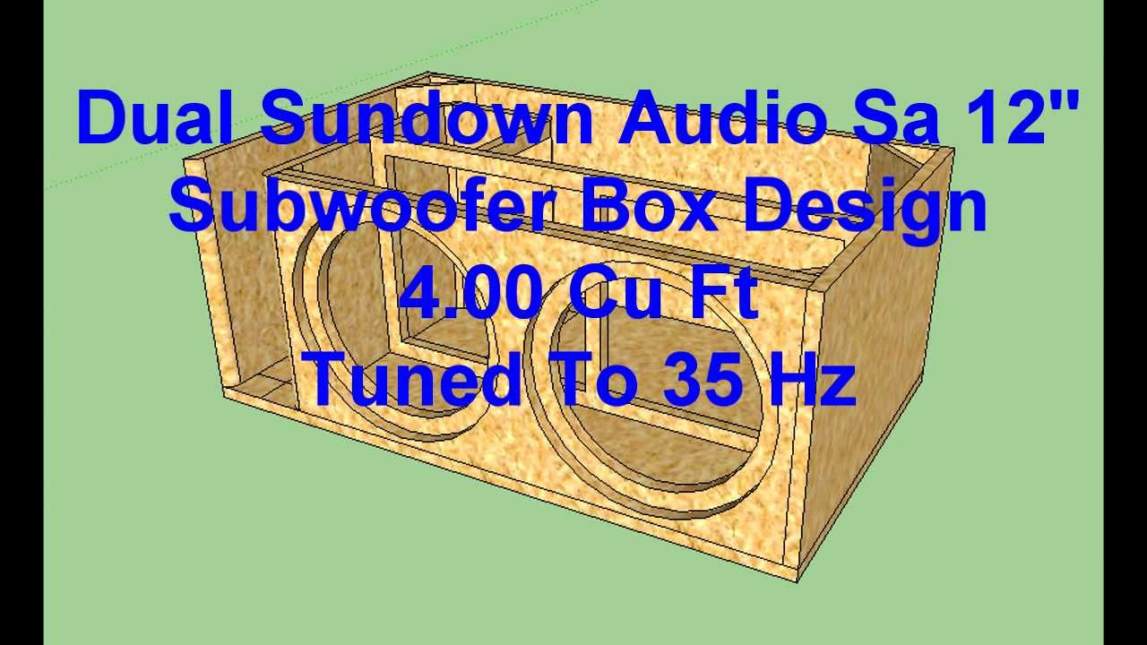 Sundown Audio x 12 Specs Dual Sundown Audio sa 12