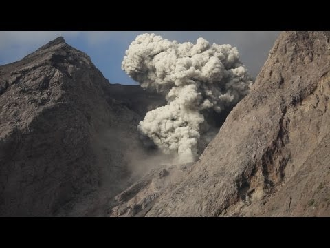 Selection of Explosive Eruptions of Batu Tara Volcano, including day and night footage.