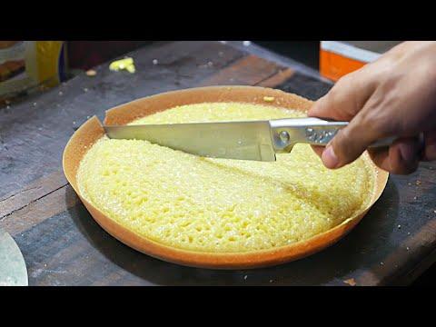 Indonesian Street Food - Chocolate Cheese Martabak Dessert