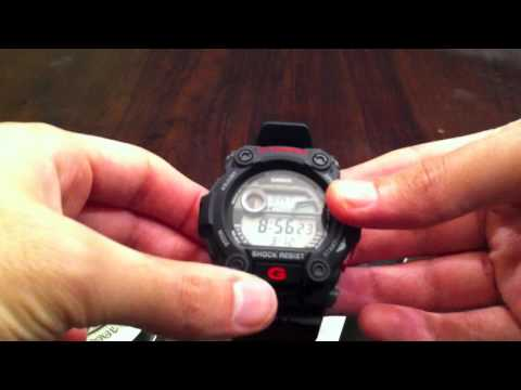Casio G-Shock Black Digital Watch Unboxing G-7900-1