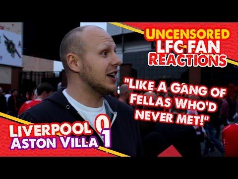 Liverpool fan slags off team after Aston Villa loss