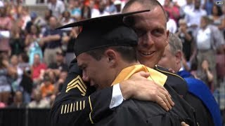 Watch: Grad gets major surprise from Army dad!