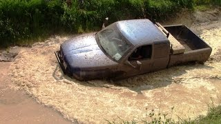 Blue Dodge Mudding At Silver Willow Classic Mud Bog 2015
