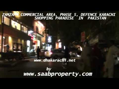 ZAMZAMA COMMERCIAL SHOPPING AREA PHASE 5 DEFENCE DHA KARACHI PAKISTAN SAABPROPERTY REALESTATE