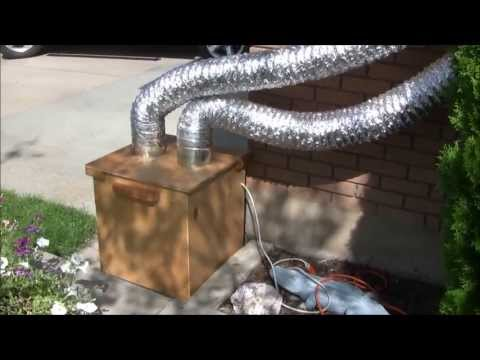 DIY Garage Exhaust Fan and Air Filter. for Woodworking and Finishing