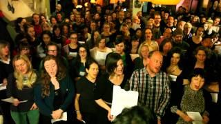 choir! choir! choir! sings Death Cab For Cutie - I'll Follow You Into The Dark