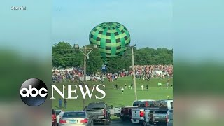 Hot air balloon plows into spectators in Missouri
