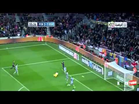 messi super hattrick Goals vs osasuna 5-1 2013 [HD]