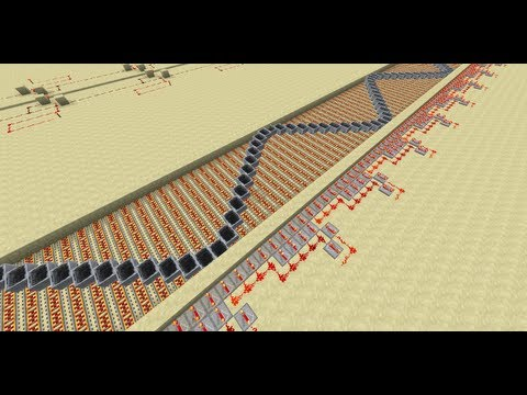 Minecart Wave Machine in Minecraft