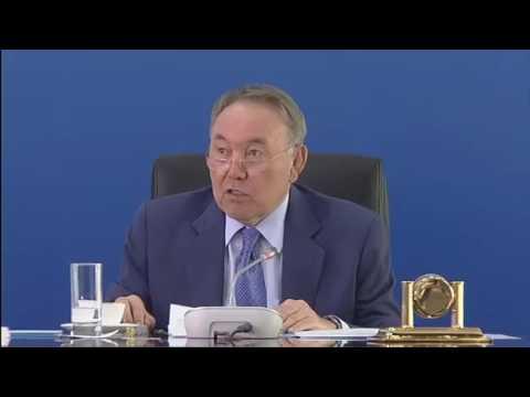 Назарбаев отругал чиновника за потоп в Астане!