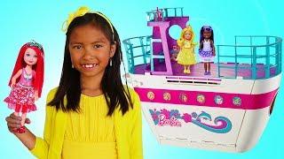 Wendy Pretend Play w/ Barbie Doll Cruise Ship Adventure Toy