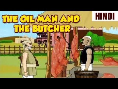 Akbar Birbal Moral Stories | The Oil Man & The Butcher | Animated Hindi Stories | Sunflower Kidz