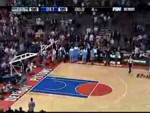 Rasheed Wallace 3/4 Court Buzzer Beater Video