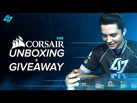 CLG UNBOXING + GIVEAWAY   CORSAIR K68 Gaming Keyboard   Dust + Spill Resistant TEST