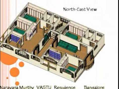 Narayana Murthy Vastu Home Plan Wmv Youtube