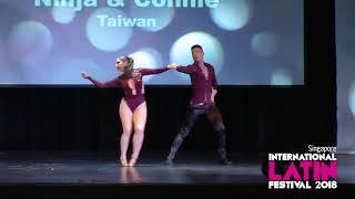 2018 Singapore International Latin Festival ALC Bachata Pro 3rd place Ninja & Connie
