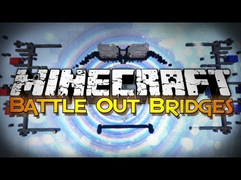Minecraft: Bridge Out Battle - Falling Blocks!? (Mini-Game)