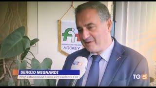 Il Presidente FIH Mignardi interviene al TG5 delle 20