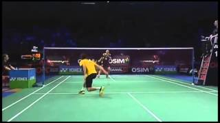 Chen Long vs Lee Chong Wei Denmark Open amazing rally, funny moment and great defence