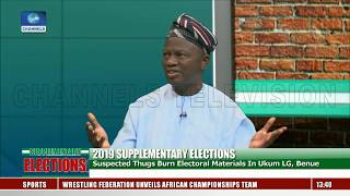 Supplementary Elections: Frm INEC Nat'l Commissioner Reacts To Benue Election Materials Burning