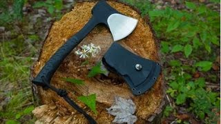 NEW! Schrade SCAXE10 Camp Hatchet – Best Hatchet for Backpacks