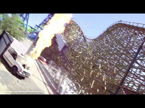Terminator Salvation: The Ride (HD POV Back) Six Flags Magic Mountain