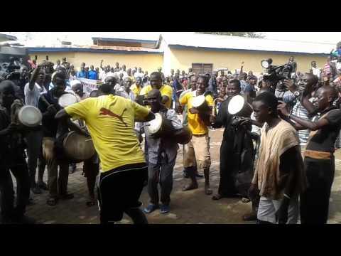 Ghana striker Asamoah Gyan in exciting traditional Ghanaian dance